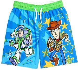 TOY STORY BUZZ LIGHTYEAR WOODY UPF50+ Bathing Suit Swim Trunks Boys 4 or 7  $25