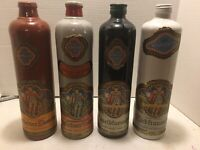 Lot of 4 Different Beameister Vintage German Stoneware Wine Bottles