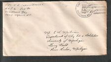 Oct 1945 WWII cover Pfc V E Sabuco Courthouse Bay Camp Lejeune NC to Ann Arbor