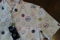 Ben Sherman man shirt THE BEATLES logo short sleeve style MA12761 Small NWT
