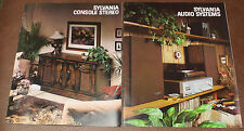 Sylvania Audio Component / Console Stereo 1981 Advertising Dealer Brochures  GTE