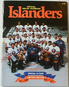 1984-85 New York Islanders Yearbook NHL Mike Bossy Brent Sutter Bryan Trottier
