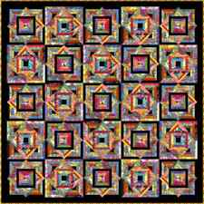 """NEW - TROPPO LOCO - 91"""" x 91"""" - Pre-cut Quilt Kit by Quilt-Addicts Queen size"""