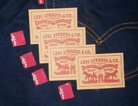 4pcs Levi's Levis Levi Strauss Leather Patch Label + FREE Red Tab dead stock