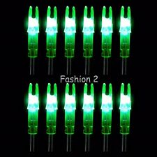 12Pcs Colored Hunting Lighted Nock Led Lighted Luminous Tail Arrow Nocks 6.2mm