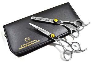 "5.5"" Professional Hairdressing Scissors Barber Haircutting Shears Set Sharp"