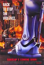 1993's ROBOCOP 3 original rolled advance 27x41 O/S poster