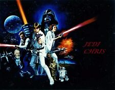 """Star Wars  personalized """"Jedi"""" iron on transfer  5x8"""