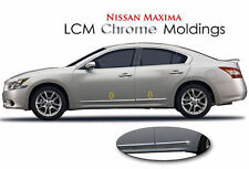 4PC ABS LCM CHROME BODY SIDE MOLDINGS FITS 2012 2013 2014 2015 NISSAN MAXIMA
