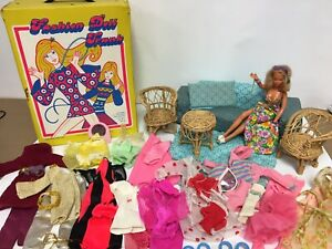 Vintage 1978 IDEAL Tuesday Taylor Super Model Doll Clothes Case Accessories Lot