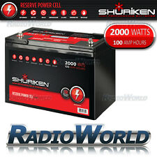 Shuriken BT100 agm haute performance voiture audio batterie 12V 2200w 100AH power cell