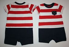 New Gymboree Patriotic One Piece Romper Size 0-3m NWT Red White Cute July Fourth