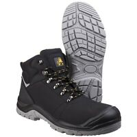 Amblers AS252 DELAMERE Black Lightweight Leather Safety Boot |4-12|