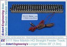 EE 5111 New Maerklin Märklin Marklin HO Straight Feeder M Track 39 in long Wires