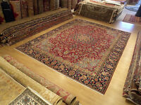 Vintage 10 x 13 Fine Quality Handmade Antique 1930s Persian Lavar Wool Rug
