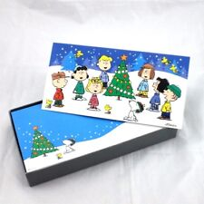Hallmark Peanuts Gang Christmas 16 Ct Boxed Greeting Cards Charlie Brown New