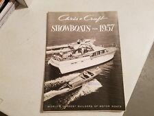 1957 Chris Craft Showboats Dealer Brochure Runabout Cruiser Literature MINT