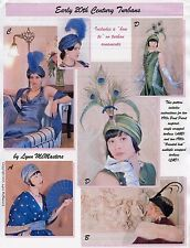 Ladies Early 20th Century 1910s-20s Turbans - Lynn McMasters Sewing Pattern # 61