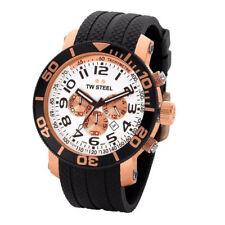 TW Steel TW77 Men's Grandeur Diver Chronograph 48mm Rose-Tone PVD Rubber Watch
