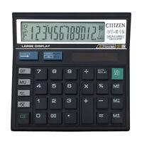 12 Digit Desk Calculator Large Buttons Solar Power Desktop Battery Shop  YGV