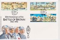 Unaddressed Isle of Man FDC First Day Cover 1990 Battle of Britain 10% off 5