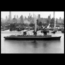 Photo B.003204 SS NORMANDIE CGT FRENCH LINE NEW YORK 1936 PAQUEBOT OCEAN LINER
