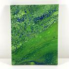 Abstract Painting Contemporary Original Modern Acrylic Fluid Art   11x14 Canvas