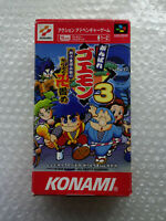 "Ganbare Goemon 3 ""Good Condition"" Nintendo Super Famicom Japan"