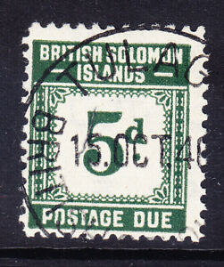 BRITISH SOLOMON IS 1940 SGD5 5d grey-green Postage Due very fine used. Cat £21