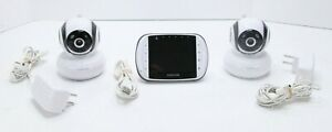 Motorola Baby Monitor 2 Cameras Digital Video Wireless Mbp36bu, Tested