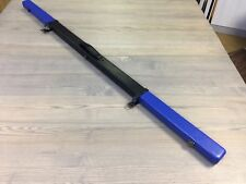 Blue Real Leather Thin 1 Piece Extra Long Pool/ Snooker Cue Case