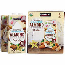 Kirkland Signature Organic Almond Beverage, Vanilla, 32 fl oz, 6-count