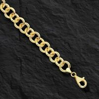 14kt Yellow Gold Round Rolo Charm Bracelet 7.25 Inch 6.2 grams