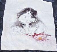 Vintage BIEDERLACK Sara Moon Kitten Cat Throw 54 x 72 Reversible West Germany