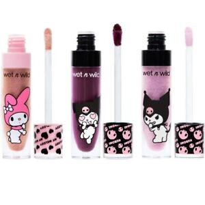Kuromi Lip Color Wet N Wild My Melody Trio Set Goth Lot - Sealed MATTE & GLOSS