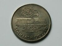 Squamish BC CANADA 1980 Trade DOLLAR Token with CPR Train Locomotive & Mountain