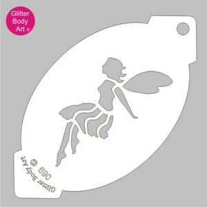 Fairy Face Stencil Template 069-Kids Birthday Party,Reuseable Face Paint Stencil