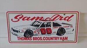 1984 SAM ARD #00 THOMAS BROS. COUNTRY NASCAR RACING TEAM VINTAGE LICENSE PLATE!