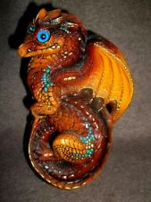 Retired 1988 Windstone Editions M. Pena Brown Young Dragon Sculpture Figurine