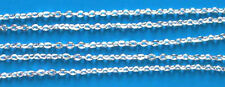 1m of Fine/medium silver plated flat trace chain (cut to 1 metre lengths)