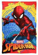 MARVEL SPIDERMAN SUPER SOFT FLEECE CUDDLE BLANKET CHILDRENS KIDS BED THROW 56512