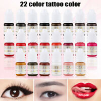 Permanent Makeup Eyebrow Ink Tattoo Color Micro Pigment Microblading Lips