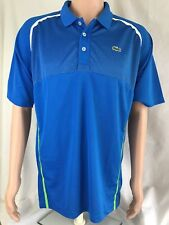 NWT Lacoste Sports Men's Ultra Dry Fit Tennis Polo, Blue/White/green, size 7/XXL