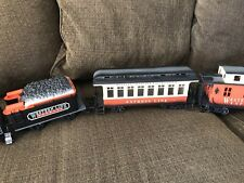 1986-1987 Battery Operated New Bright Train Set With Rails - Tested & Working