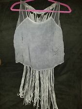 Andree By Unit women's dark blue fringe top size L