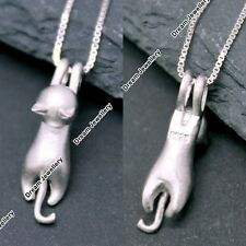 Silver 925 Cat Necklace Birthday Valentines Gifts for Her Girlfriend Mum Wife V1