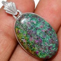 Ruby In Kyanite 925 Sterling Silver Pendant Jewelry AP231377 XGB