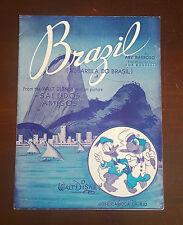 """SPARTITO 1942 DAL FILM """" SALUDOS AMIGO """" DELLA WALT DISNEY  """"BRAZIL"""""""