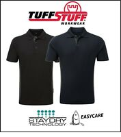 TUFFSTUFF Quality Men's WORK Play Polo SHIRT Stay Dry Easy Care - S.M,L,XL,2XL