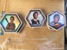 TOPPS NYCC STAR WARS 3 Galactic Connexions Discs-Rey-Han Solo-Luke Skywalker